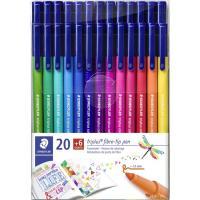Rotulador punta 1mm, colores surtidos Triplus STAEDTLER, Caja 20+6 uds