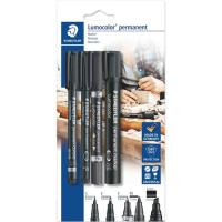 Rotuladores Permanetes Lumocolor Negros STAEDTLER, 4uds