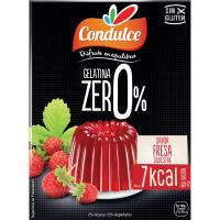 Gelatina zero de fresa CONDULCE, caja 28 g