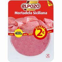 Mortadela siciliana ELPOZO, bandeja 400 g