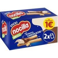 Crema de cacao stick 2 sabores NOCILLA, caja 2 unid.
