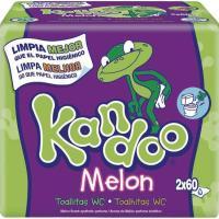 Toallitas wc melón DODOT Kandoo, pack 2x60 unid.