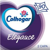 Servilleta blanca elegance 2 capas COLHOGAR, paquete 90 uds.