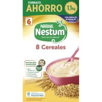 Papilla 8 cereales NESTUM, caja 1,1 kg