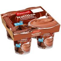 Natillas de chocolate PASCUAL, pack 4x125 g