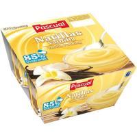 Natillas de vainilla PASCUAL, pack 4x125 g