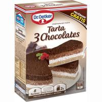 Tarta tres chocolates DR.OETKER, caja 270 g