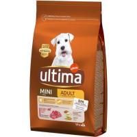 Alimento de buey para perro mini adulto ULTIMA, saco 1,5 kg