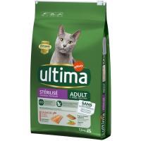 Alimento de salmón gato esterilizado ULTIMA, saco 7,5 kg