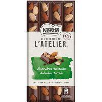 Chocolate negro-almendras tostadas NESTLÉ Atélier, tableta 195 g