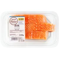 Solomillos de salmón EROSKI Natur GGN, bandeja 300 g