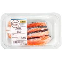 Escalopines de salmón EROSKI Natur GGN, bandeja 200 g