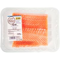 Corte de salmón EROSKI Natur GGN, bandeja 600 g