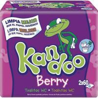 Toallitas wc frutas del bosque DODOT Kandoo, pack 2x60 unid.