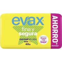 Compresa normal EVAX F&S, paquete 40 uds