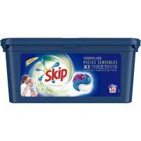 Detergente en cápsulas p. sensible SKIP Ultimate, caja 24 dosis