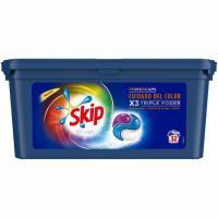 Detergente en capsulas color SKIP Ultimate, caja 32 dosis