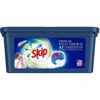 Detergente en cápsulas p. sensible SKIP Ultimate, caja 32 dosis