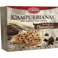 Galleta Campurrianas con trozos de chocolate CUÉTARA, caja 450 g