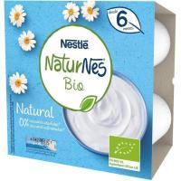 Postre lácteo natural NESTLÉ Naturnes Bio, pack 4x90 g