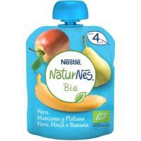 Bolsita de pera-manzana-plátano NESTLÉ Naturn. Bio, doypack 90 g