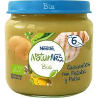 Tarrito de guisante-patata-pollo NESTLÉ Naturn. Bio, tarro 190 g