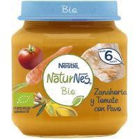 Tarrito de zanahoria-tomate-pavo NESTLÉ Naturn. Bio, tarro 190g