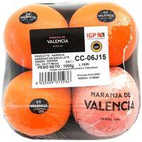 Naranja de mesa IGP VALENCIA, bandeja 1 kg.