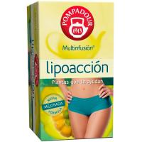 Infusión lipoacción POMPADOUR, caja 20 sobres