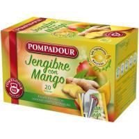 Infusión jengibre con mango POMPADOUR, caja 20 sobres