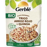 Trio cereal trigo-arroz rojo-quinoa GERBLÉ BIO, doypack 220 g