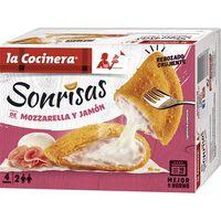 Sonrisas de jamón-queso LA COCINERA, caja 266 g