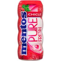 Chicle Gum de fresa Lc MENTOS, bote 30 g
