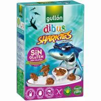Galleta Dibus Sharkies sin gluten GULLÓN, caja 250 g
