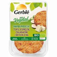 Hamburguesa vegetal de tofú-calabacín GERBLÉ BIO, bandeja 160 g