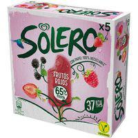 Helado de frutas fresa SOLERO, 6 unid., caja 312 g