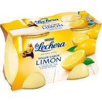 Yogur enriquecido de limón LA LECHERA, pack 2x125 g