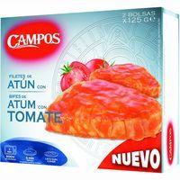 Atún con tomate CAMPOS, caja 250 g