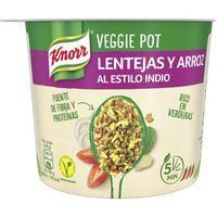 Lentejas con arroz estilo indio KNORR, tarrina 72 g