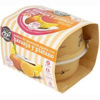 Postre de manzana asada-naranja-plátano Y SI?, pack 2x150 g