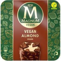 Helado vegano de almendra MAGNUM, 3 uds., caja g