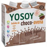 Bebida de choco-avena YOSOY, pack 3x250 ml