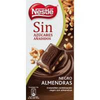 Chocolate negro con almendras sin azúcar NESTLÉ, tableta 125 g