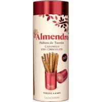 Palitos de turrón con chocolate EL ALMENDRO, caja 126 g