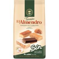 Surtido de turrón en porción s/ azúcar EL ALMENDRO, bolsa 400 g