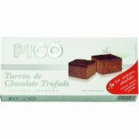 Turrón de chocolate trufado sin azúcar PICO, caja 200 g