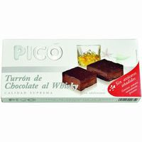 Turrón de chocolate al whisky sin azúcar PICO, caja 200 g