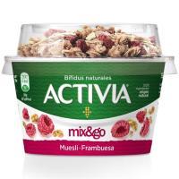 Muesli con frambuesa Mix&Go ACTIVIA, tarrina 170 g
