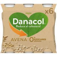 Danacol para beber de avena DANONE, pack 6x100 g