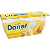 Natillas de vainilla con nata DANET, pack 2x100 g